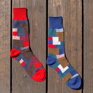 Japan Patchwork Sock 2PK