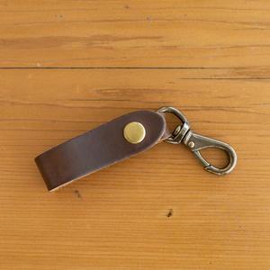 Swivel Hook Keychain - Horween CXL Brown
