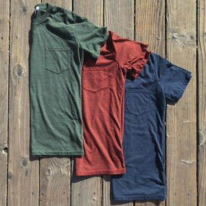 USA Heather Pocket T-Shirt - 3PK (Cypress, Oxblood, Navy)