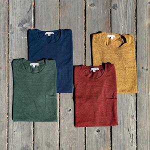 USA Heather Pocket T-Shirt - 4PK (Cypress, Navy, Oxblood, Bronze)