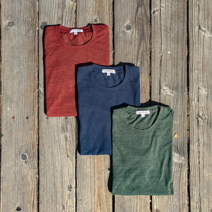 USA Heather T-Shirt 3PK (Oxblood, Navy, Cypress)