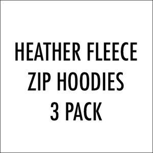Fleece Zip Hoodie - 3 Pack