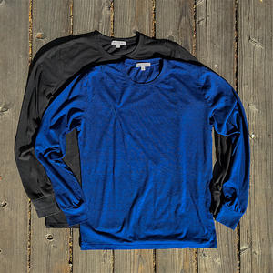 USA Heather Long Sleeve T-Shirt 2PK (Gunmetal, Royal Blue)