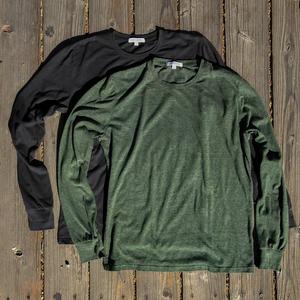 USA Heather Long Sleeve T-Shirt 2PK (Gunmetal, Cypress)