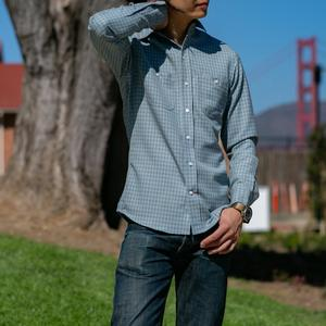 #614 Pendleton Merino Wool - Blue Tattersall