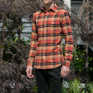 #618 Orange Rust Flannel