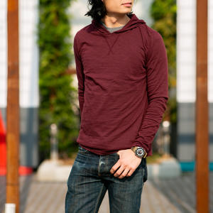 Superlight Slub Hoodie - Wine