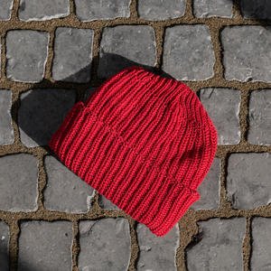 American Knit Beanie - Red