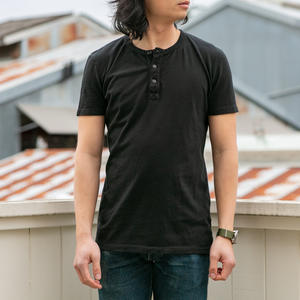 Short Sleeve Henley - Black