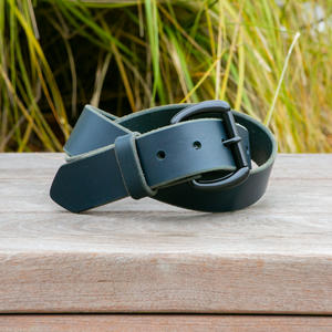 Black Roller Belt - Illini Latigo Navy