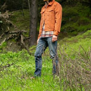 Corduroy Trucker - Orange Rust