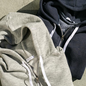 Twisted Yarn Fleece Zip Hoodie 2 Pack (Heather Grey, Navy)