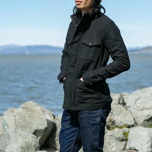 Moleskin Field Jacket - Black