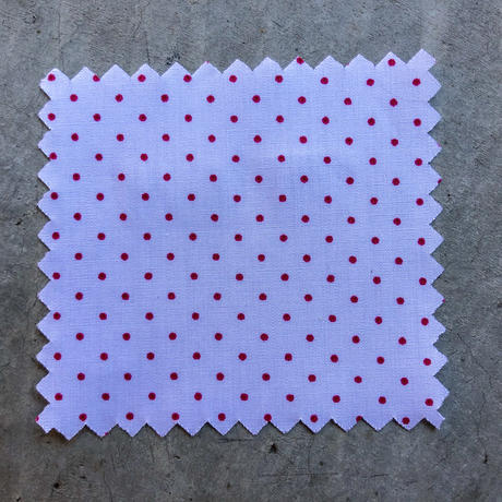2a03a8d8a59ec1 641 White-Red Polka Dot Poplin | Japanese Shirting