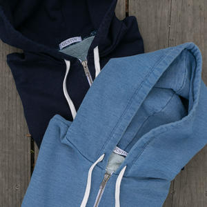 Indigo Dye Zip Hoodie 2 Pack