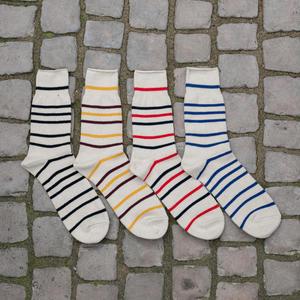 Japan Stripe Three Quarter Sock 4PK