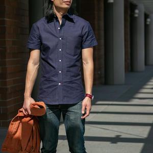 #195 IndigoXIndigo Chambray Short Sleeve Shirt