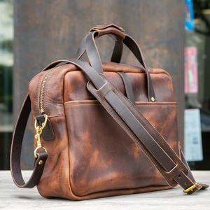 The Deluxe Briefcase - Horween Nut Brown Dublin