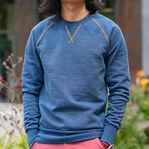 Vintage Indigo Contrast Stitch Crewneck Sweatshirt