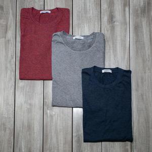 USA Heather T-Shirt 3PK (Red, Grey, Blue)