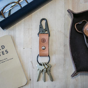 Military Key Clip - Veg Tan