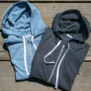 Indigo Stripe Superlight Zip Hoodie - 2 Pack