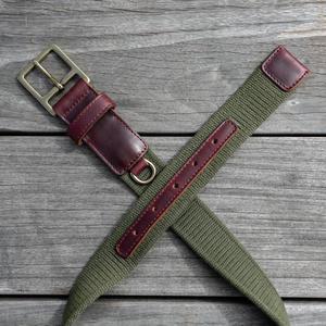 Olive Webbing Belt - Chromexcel #8