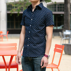 #687 Indigo Star Short Sleeve Shirt