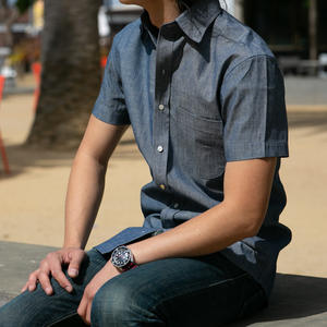 #689 Indigo Chambray Short Sleeve Shirt