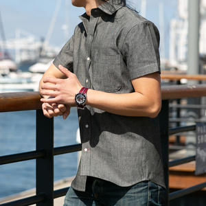 #690 Black Chambray Short Sleeve Shirt