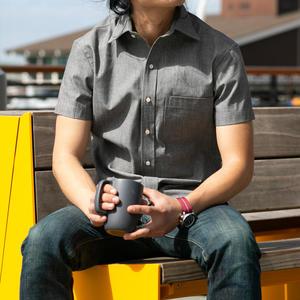 #691 Grey Chambray Short Sleeve Shirt