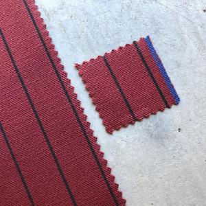#440 Selvedge Stripe Canvas - Oxblood