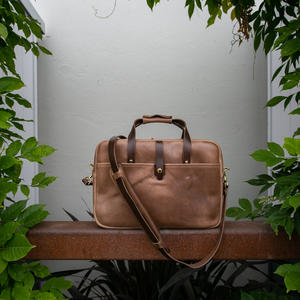 The Deluxe Briefcase - Horween Chromexcel Natural