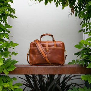 The Deluxe Briefcase - Horween Cavalier Whiskey