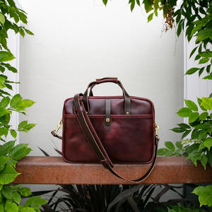 The Deluxe Briefcase - Horween Chromexcel #8