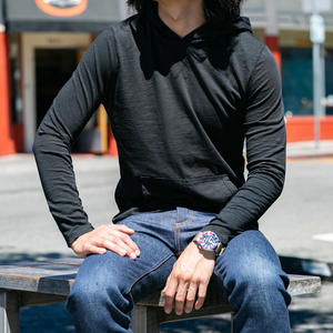 Superlight Slub Pocket Hoodie - Black