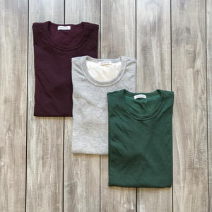 Double Knit T-Shirt - 3 Pack (Heather Grey, Oxblood, Forest)