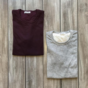 Double Knit T-Shirt - 2 Pack (Heather Grey, Oxblood)