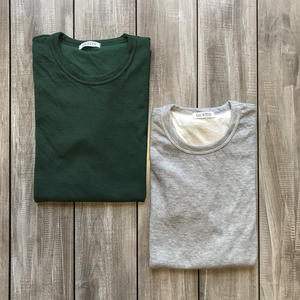 Double Knit T-Shirt - 2 Pack (Heather Grey, Forest)