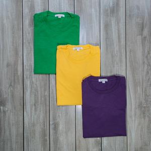 Slub Cotton T-Shirt 3PK (Green, Yellow, Purple)