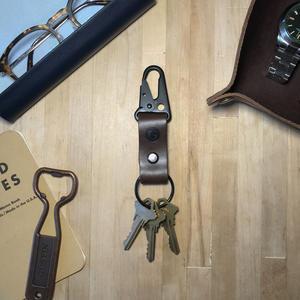 Military Key Clip - Horween CXL Brown