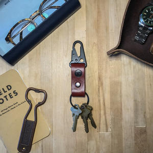 Military Key Clip - Horween Russet