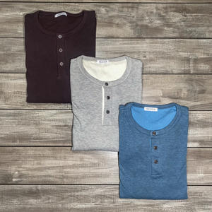 Double Knit Henley 3 Pack