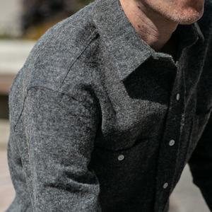 #629 CharcoalXBlack Vintage Wool