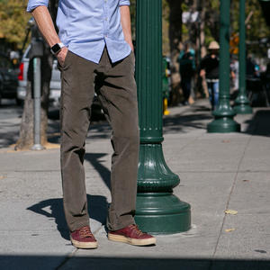 #203 Wool Stretch Corduroy Chinos - Olive Drab