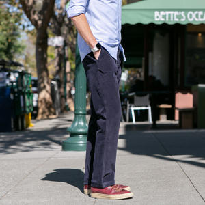#202 Wool Stretch Corduroy Chinos - Navy