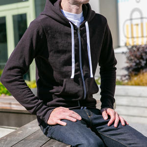 Twisted Yarn Fleece Zip Hoodie - Oxblood