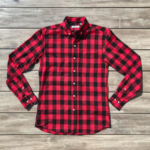 #637 Classic Flannel - Red Black