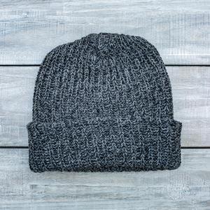 American Knit Beanie - BlackXGrey