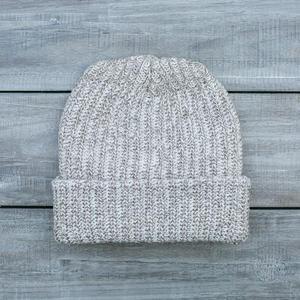 American Knit Beanie - SlateXNatural